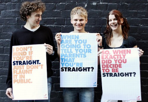 Gay Straight Signs