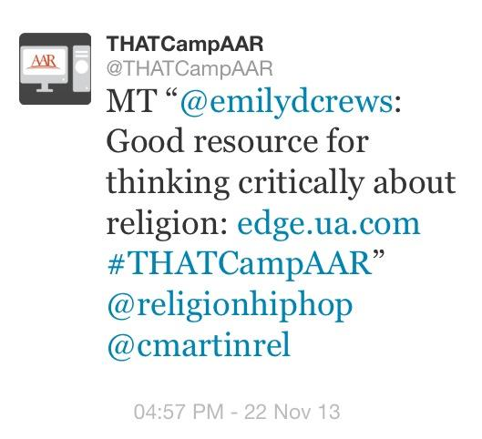 THATCampAAR's tweet about