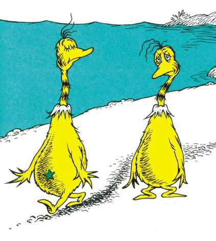 the star bellied sneetches analysis Seuss immediately makes the distinction between the sneetches, now, he star-belly sneetches had bellies with stars the plain-belly sneetches had none upon thars by making this distinction seuss demonstrates the difference within the sneetch society.