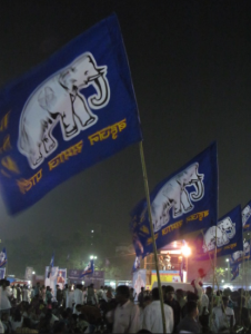 BSP flags blowing in the wind