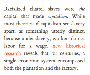 an article about slaves and capitalism