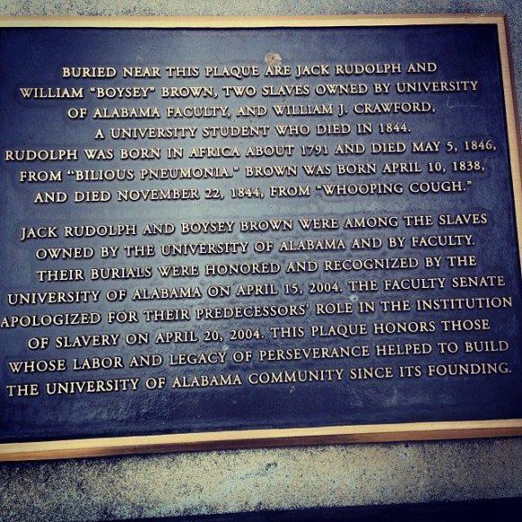 slave graves plaque