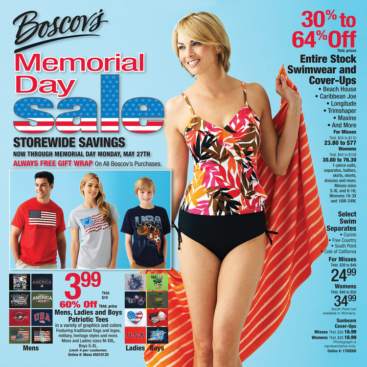 Boscov Memorial Day Sale advertisement