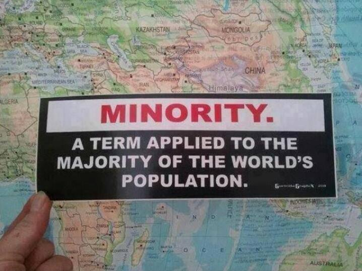 A definition of Minority on top of a map