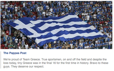 The Pappas Post about about Greece making the football final 16