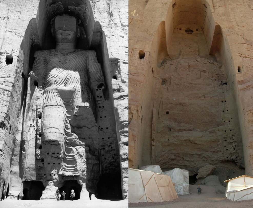 Bamiyan before and after