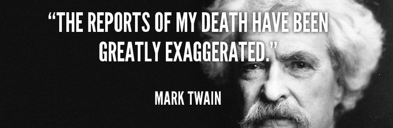 a picture of Mark Twain and the quote
