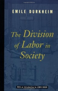 Cover of The Division of Labor in Society by Emile Durkheim
