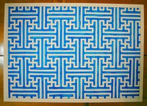 A blue maze