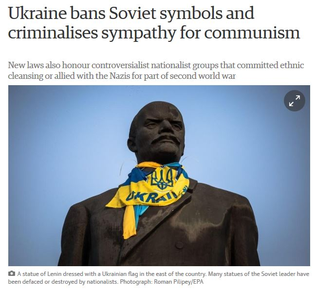 Ukraine bans Soviet symbols and criminalises sympathy for communism