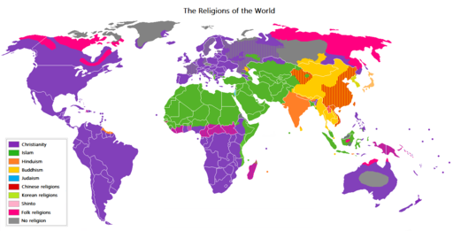 The map of the world religions
