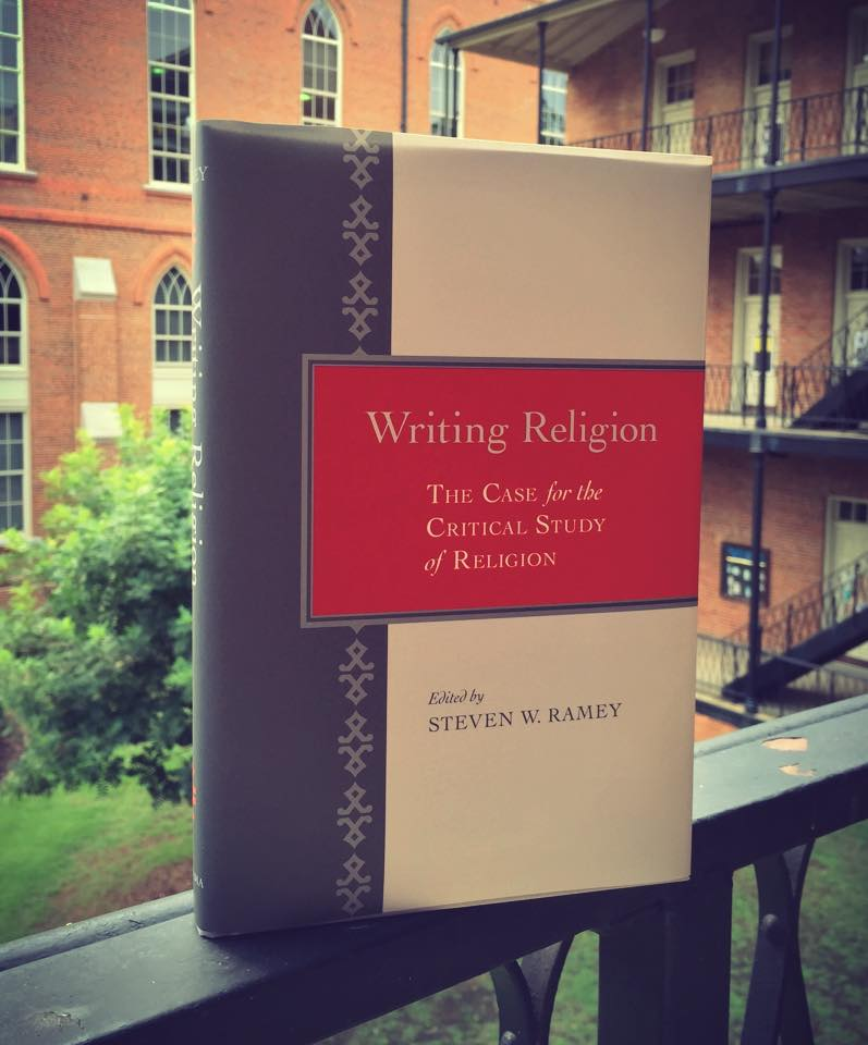 The cover of Writing Religion Edited by Steven W. Ramey