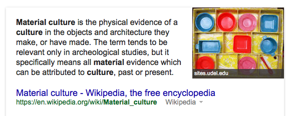 The definition of Material Culture