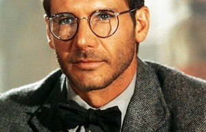 a picture of Indiana Jones wearing glasses