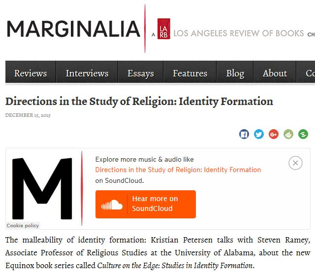 Directions in the Study of Religion: Identity Formation