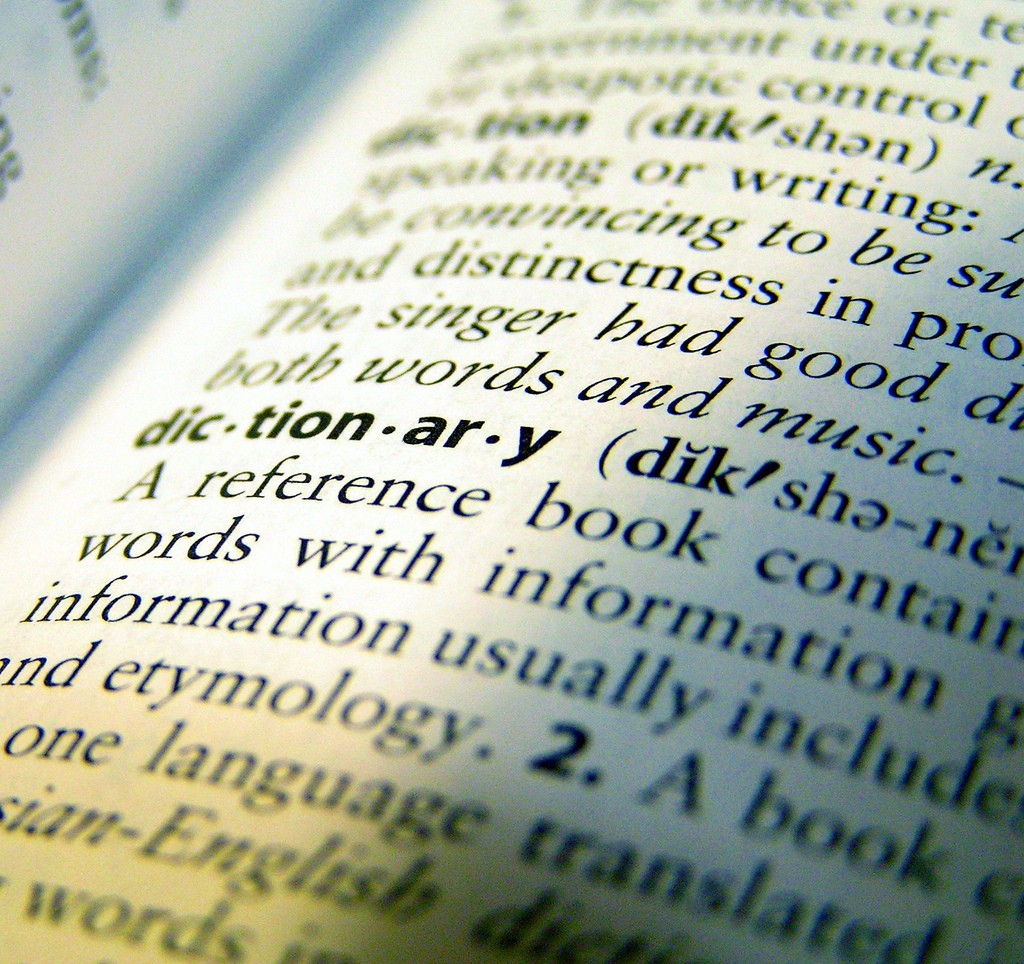 The word dictionary and its definition