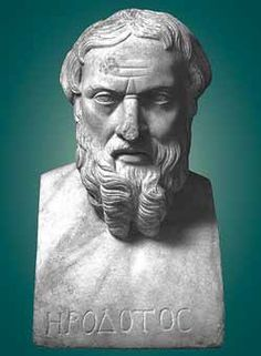 A statue of Herodotus