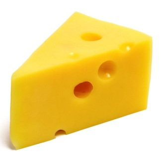 A block of yellow cheese