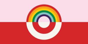 Target rainbow bullseye