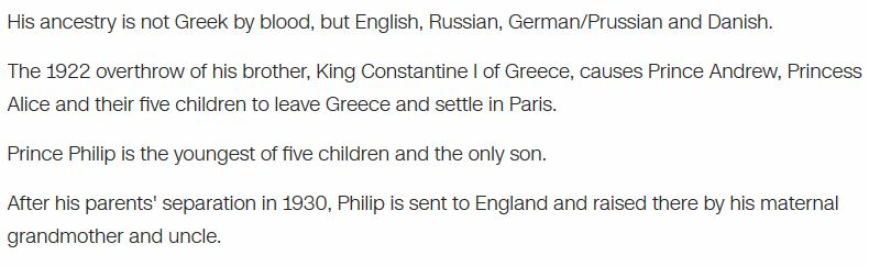 The history of Prince Philip 2