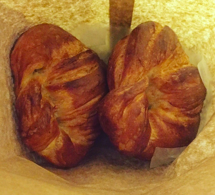 two croissants in a bag