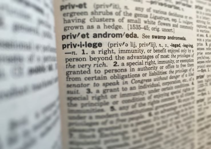 The definition of the word privilege in a dictionary