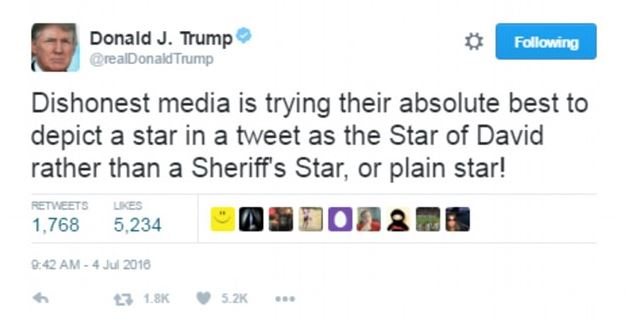 President Trump's tweet about dishonest media