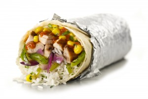 An image of a Chipotle burrito