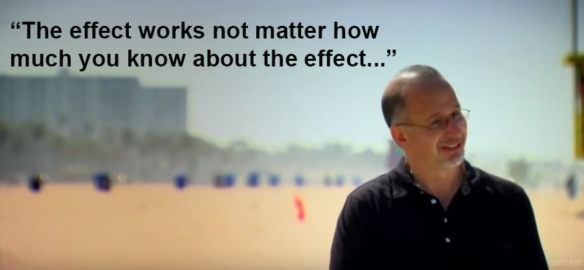 An image of a man on a beach and the quote