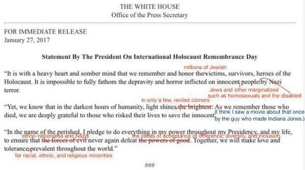 An image of a Statement By the President on International Holocaust Remembrance Day