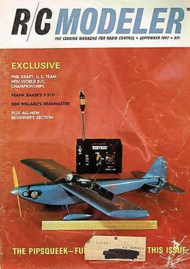 An image of the cover of R/C MODELER with an airplane