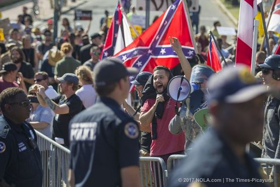An image of norleans protestors