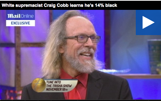 An image of white supremacist Craig Cobb doing a news interview