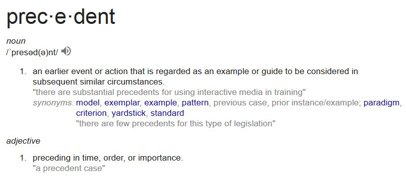 An image of the definition of precedent
