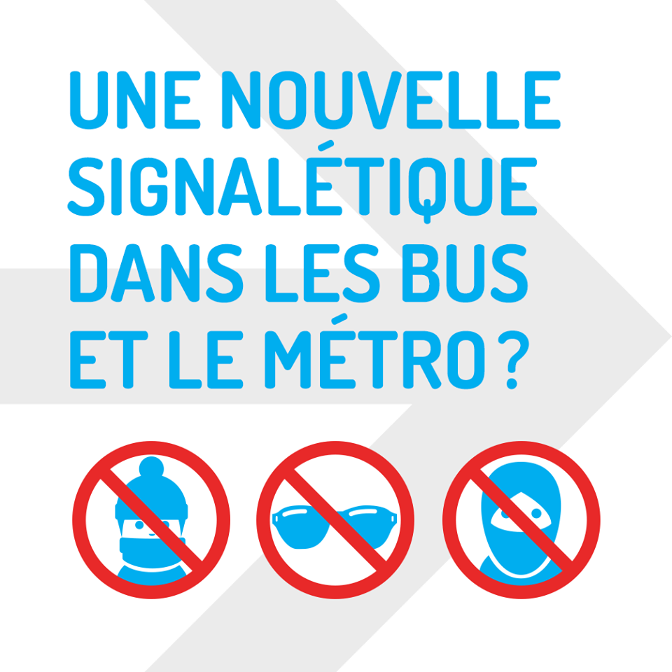 Montreal Bus Ad opposing Bill 62