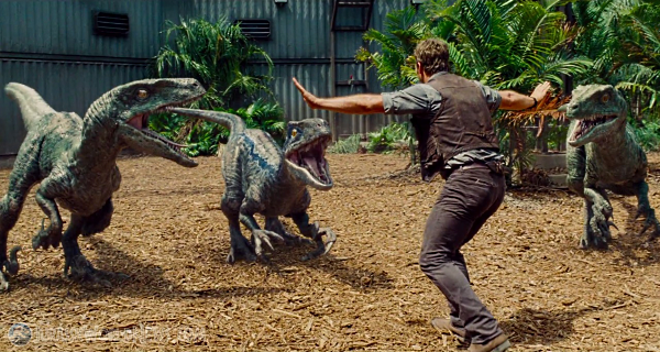 An image of Owen in the new jurassic world movie