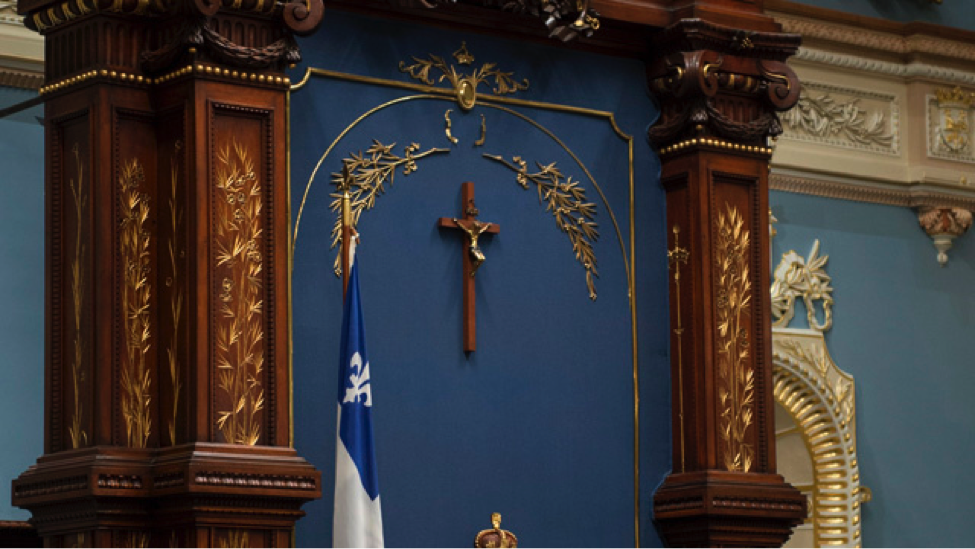 Crucifix displayed in Quebec National Assembly