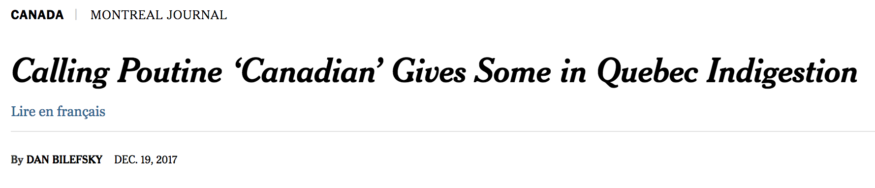 An image of a news headline