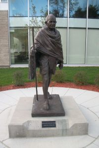 An image of a Gandhi statue in Ottawa