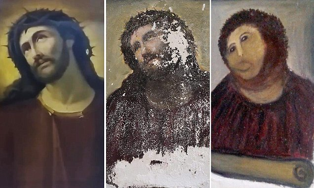Three pictures of Jesus depicted in different ways