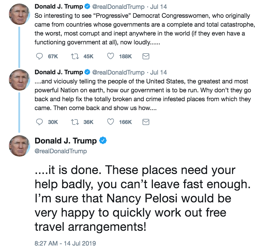President Trump's tweets about Nancy Pelosi
