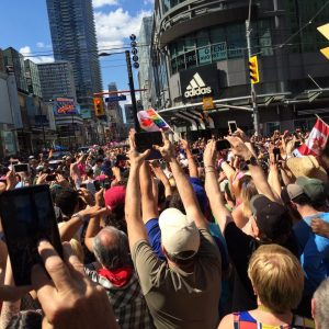 A gay pride parade in Canada